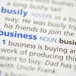 Business definition — Stock Photo