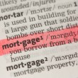 Mortgage definition highlighted in red — Stock Photo #24150343