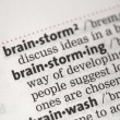 Brainstorming definition - Stock Photo