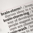 Stock Photo: Brainstorming definition