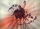 Black paint splash on textured back — Stock Photo