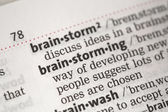 Brainstorming definition — Stock Photo