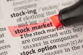 Stock market definition highlighted in red — Stock Photo