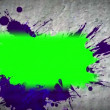 Paint spatter revealing chroma key spaces — Stockvideo