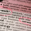 Definition of network and networking — Vídeo Stock