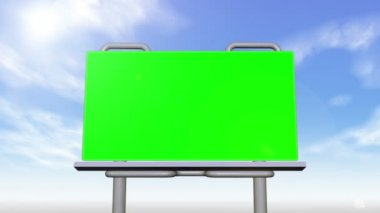 Billboard and signs presenting chroma key spaces — Stock Video