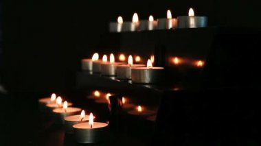 Candles at the alter — Stock Video