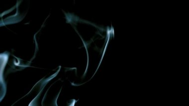 White smoke moving across black background — Stock Video