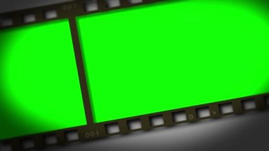Horizontal movie strip showing chroma key spaces — Stock Video