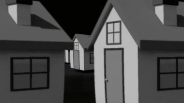 найти свой идеальный дом анимации — Стоковое видео