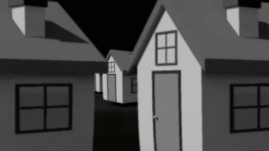 Finding your perfect home animation — Vídeo de stock