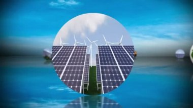 Renewable energy and recycling montage — Stock Video