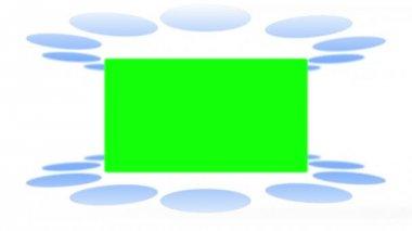 Bewegende lichten maken verschijnen chroma key ruimten — Stockvideo
