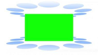 Movimento luci fare comparire spazi chiave di crominanza — Video Stock