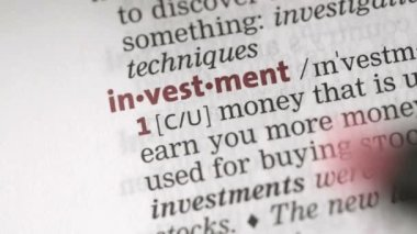 Definition of investment — Stock Video