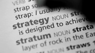 Definition of strategy — Stock Video
