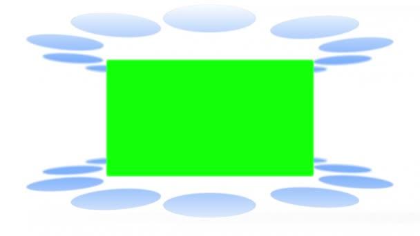 Lumières mobiles font apparaître des espaces clé chroma — Vidéo