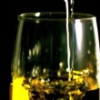 White wine being poured — Stock Video