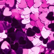 Purple heart shaped confetti changing color — Stock Video #25658063