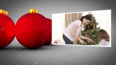 Christmas balls animation — Stock Video