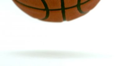 Close-up view of a basketball falling down — Stock Video