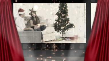 Theater and christmas animation — Stock Video