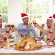 Vídeo Stock: Happy family celebrating christmas
