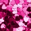Stock Video: Heart shaped confetti