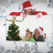 Christmas animation with children — Wideo stockowe