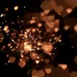 Gold confetti and sparks — Vídeo de stock