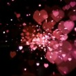 Pink heart confetti and sparks — Stock Video #25664361