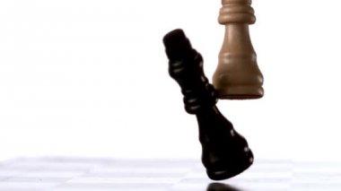 Bílý král převrhla černý král — Stock video