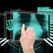 Hand scrolling through medical interface — Video Stock