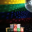 Gay pride blocks at the disco — 图库视频影像