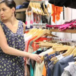 Woman shoplifing — Stock Video