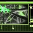 Stock Video: Digital interface showing neuron moving through nervous system