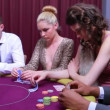 Folding at poker game — Stok video