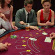 Stock video: Playing poker