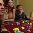 Woman wins at craps game — Stock Video
