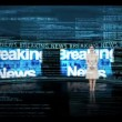 Stock Video: Reporter reporting business news
