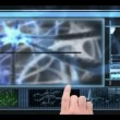 Hand scrolling through medical interface — Stock Video #25677965