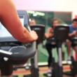 Stock Video: Spin class