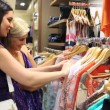 Friends happily shopping together — Stock Video