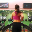 Women on treadmill — Stock Video