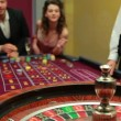 Mwinning at roulette — Stok Video #25679919