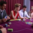 Stock Video: Mwins poker game
