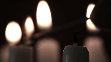 Candles being lit — Stock Video