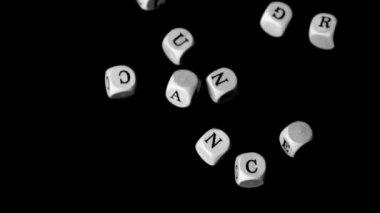 Lung cancer dice falling together — Stock Video