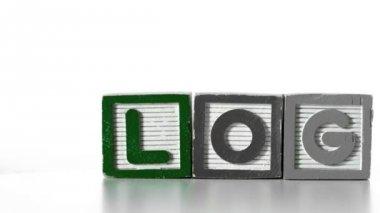 Blocks spelling Blog sliding along — Stock Video