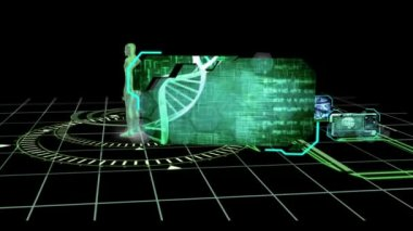 DNA brain and neuron interfaces — Stock Video
